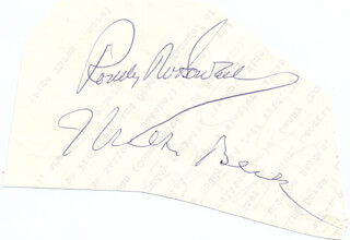 MILTON BERLE - AUTOGRAPH CO-SIGNED BY: RODDY McDOWALL