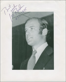 Autographs: VICE PRESIDENT JOSEPH R. BIDEN - INSCRIBED PHOTOGRAPH SIGNED 1975