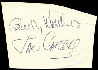BUDDY HACKETT - AUTOGRAPH CO-SIGNED BY: JACK CARTER