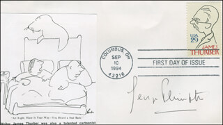 GEORGE PLIMPTON - FIRST DAY COVER SIGNED