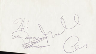 MICHAEL CAINE - AUTOGRAPH CO-SIGNED BY: DANNY THOMAS - HFSID 28816