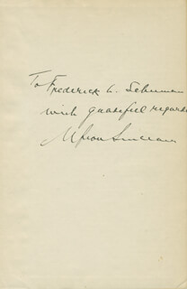 UPTON SINCLAIR - AUTOGRAPH NOTE SIGNED