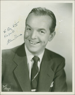 ALAN BUNCE - AUTOGRAPHED INSCRIBED PHOTOGRAPH