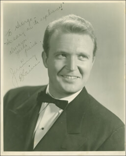 JIMMY BLAINE - AUTOGRAPHED INSCRIBED PHOTOGRAPH