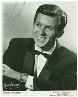 CHARLIE APPLEWHITE - AUTOGRAPHED INSCRIBED PHOTOGRAPH