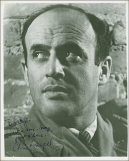 CHRIS GAMPEL - AUTOGRAPHED INSCRIBED PHOTOGRAPH