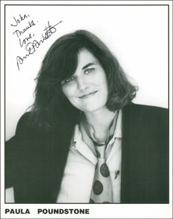 PAULA POUNDSTONE - AUTOGRAPHED INSCRIBED PHOTOGRAPH
