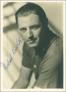 MICHAEL BARTLETT - AUTOGRAPHED SIGNED PHOTOGRAPH