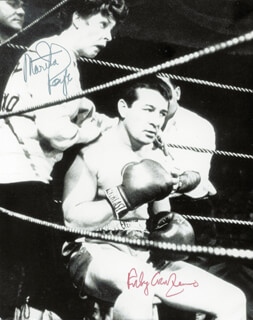 ROCKY GRAZIANO - AUTOGRAPHED SIGNED PHOTOGRAPH CO-SIGNED BY: MARTHA RAYE
