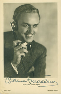 WERNER FUETTERER - PICTURE POST CARD SIGNED