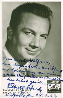 RUDOLF SCHOCK - AUTOGRAPHED INSCRIBED PHOTOGRAPH