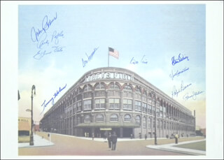 THE BROOKLYN DODGERS - PRINTED ART SIGNED CO-SIGNED BY: RANDY HANDSOME RANSOM JACKSON, ANDY HANDY ANDY PAFKO, TOMMY HOLMES, JOHNNY PODRES, ELMER VALO, DON NEWK NEWCOMBE, JOE PIGNATANO, RALPH HAWK BRANCA, ROGER CRAIG