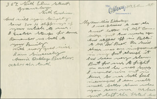 ANNIE LITTLE SURE SHOT OAKLEY - AUTOGRAPH LETTER SIGNED 10/10/1923