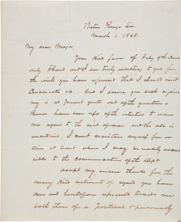 PRESIDENT ZACHARY TAYLOR - AUTOGRAPH LETTER SIGNED 03/01/1848