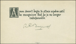 REAR ADMIRAL RICHARD E. BYRD - QUOTATION SIGNED
