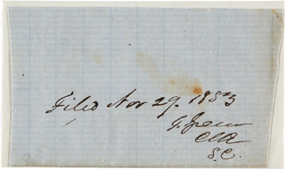 Autographs: BRIGADIER GENERAL THOMAS GREEN - DOCUMENT FRAGMENT SIGNED 04/29/1853