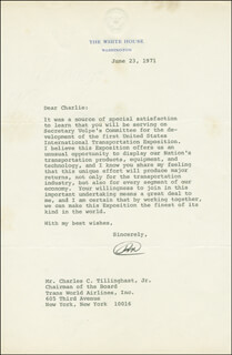 PRESIDENT RICHARD M. NIXON - TYPED LETTER SIGNED 06/23/1971