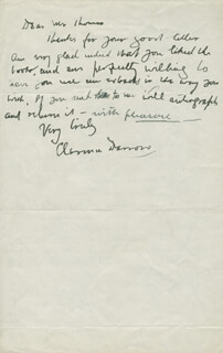 CLARENCE DARROW - AUTOGRAPH LETTER SIGNED 05/18/1933