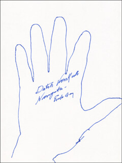 Autographs: ENOLA GAY CREW (THEODORE VAN KIRK) - HAND/FOOT PRINT OR SKETCH SIGNED