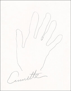 ANNETTE FUNICELLO - HAND/FOOT PRINT OR SKETCH SIGNED