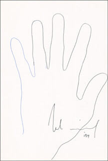 ROLAND EMMERICH - HAND/FOOT PRINT OR SKETCH SIGNED  - HFSID 288376
