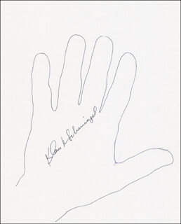 KLAUS SCHMIEGEL - HAND/FOOT PRINT OR SKETCH SIGNED