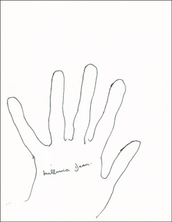 Autographs: MILLVINA DEAN - HAND/FOOT PRINT OR SKETCH SIGNED