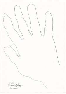 Autographs: L. PATRICK GRAY III - HAND/FOOT PRINT OR SKETCH SIGNED 08/29/2001