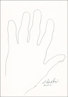 L. PATRICK GRAY III - HAND/FOOT PRINT OR SKETCH SIGNED 08/29/2001