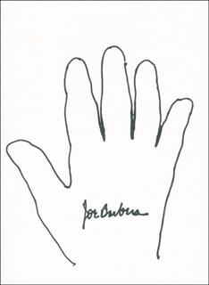 JOSEPH BARBERA - HAND/FOOT PRINT OR SKETCH SIGNED  - HFSID 288406