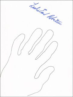 LESLIE EARL ROBERTSON - HAND/FOOT PRINT OR SKETCH SIGNED