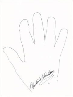 FREDERICK C. ROBBINS - HAND/FOOT PRINT OR SKETCH SIGNED