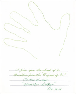 CLARENCE SWENSEN - HAND/FOOT PRINT OR SKETCH SIGNED