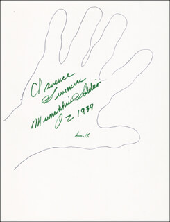CLARENCE SWENSEN - HAND/FOOT PRINT OR SKETCH SIGNED  - HFSID 288416