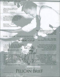 ROBERT CULP - INSCRIBED ADVERTISEMENT SIGNED 1994