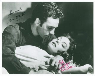 BARRICADE MOVIE CAST - AUTOGRAPHED INSCRIBED PHOTOGRAPH CO-SIGNED BY: DANE CLARK, RUTH ROMAN