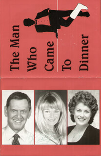 THE MAN WHO CAME TO DINNER PLAY CAST - PROGRAM SIGNED CO-SIGNED BY: VALERIE PERRINE, TONY RANDALL, JUDY KAYE