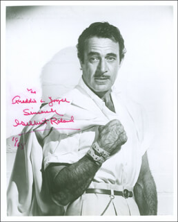 GILBERT ROLAND - AUTOGRAPHED INSCRIBED PHOTOGRAPH 1968