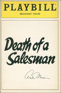 ARTHUR MILLER - SHOW BILL SIGNED