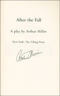 ARTHUR MILLER - BOOK SIGNED