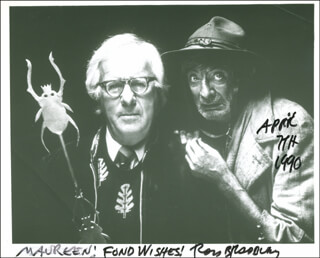 RAY BRADBURY - AUTOGRAPHED INSCRIBED PHOTOGRAPH 04/07/1990