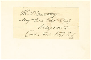 Autographs: BRIGADIER GENERAL THOMAS FAUNTLEROY - SIGNATURE(S) CIRCA 1838