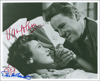 THIRTY SECONDS OVER TOKYO MOVIE CAST - AUTOGRAPHED SIGNED PHOTOGRAPH CO-SIGNED BY: VAN JOHNSON, PHYLLIS THAXTER