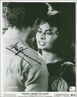DESIRE UNDER THE ELMS MOVIE CAST - AUTOGRAPHED SIGNED PHOTOGRAPH CO-SIGNED BY: SOPHIA LOREN, ANTHONY PERKINS