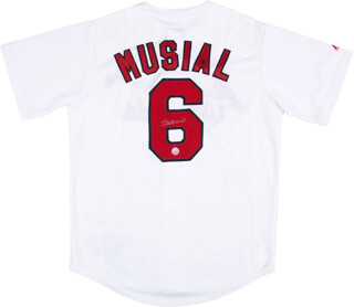 STAN THE MAN MUSIAL - JERSEY SIGNED