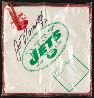 JOE NAMATH - EPHEMERA SIGNED