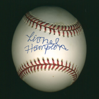 LIONEL HAMPTON - AUTOGRAPHED SIGNED BASEBALL