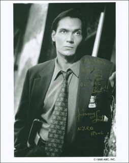 JIMMY SMITS - INSCRIBED PRINTED PHOTOGRAPH SIGNED IN INK
