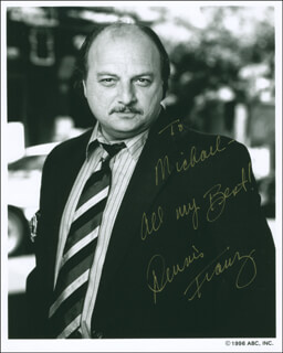 DENNIS FRANZ - AUTOGRAPHED INSCRIBED PHOTOGRAPH