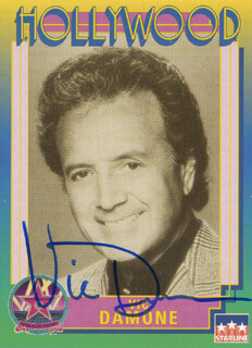 VIC DAMONE - TRADING/SPORTS CARD SIGNED